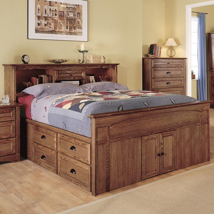 Platform Captains Bed Queen Cool Design Queen Beds