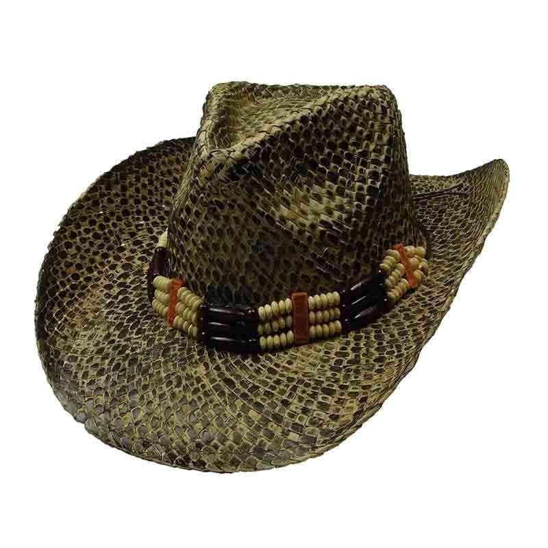 bb50adc9c8768 Woven Palm Alligator Skin Cowboy Hat — SetarTrading Hats