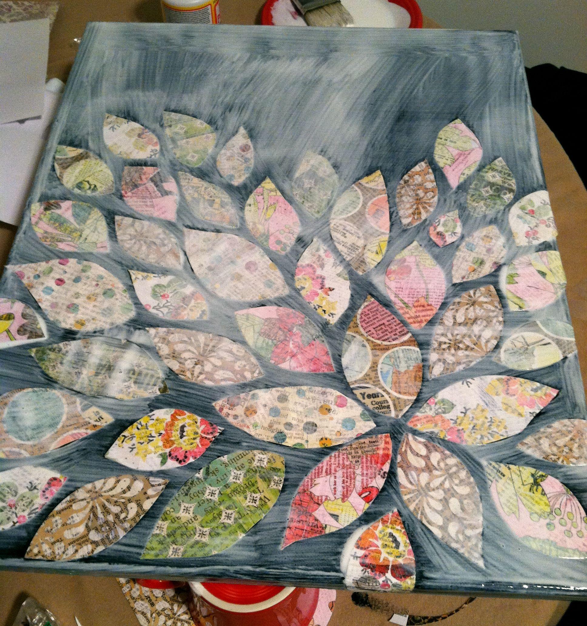 Scrapbook paper craft ideas - Mod Podge Canvas How To Creative Ideasproject Ideasart Clubchristmas Diyscrapbook Paperpapercraftdyicopyorganize