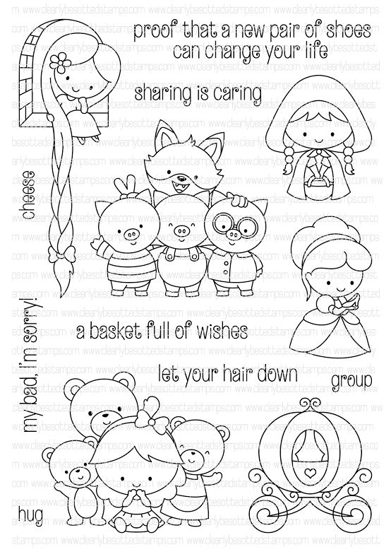 clearance coloring pages   Clearly Besotted ONCE UPON A TIME Clear Stamp Set zoom ...
