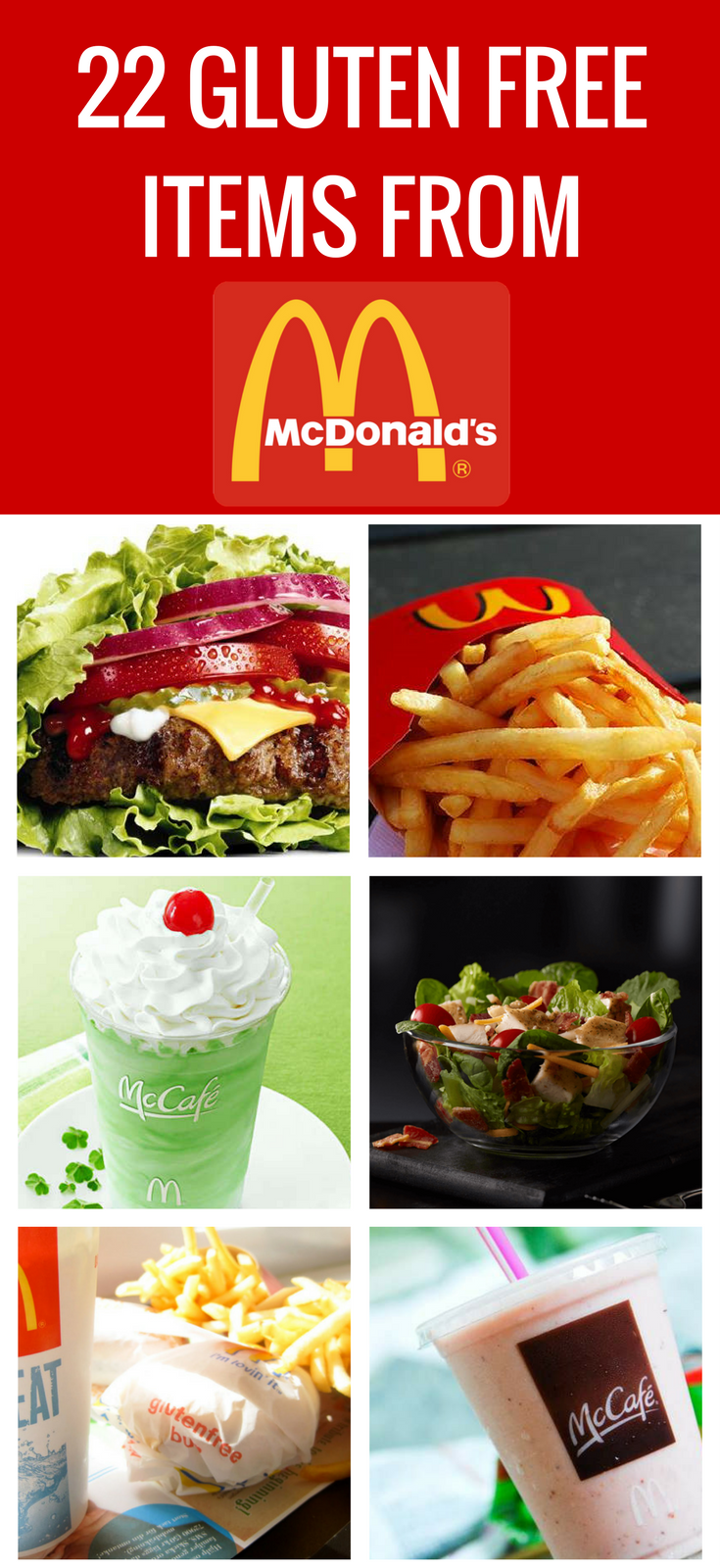 is anything at mcdonalds gluten free