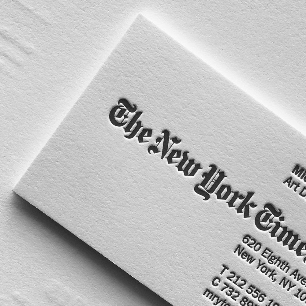 image result for new york times business cards - Business Card Printing Nyc