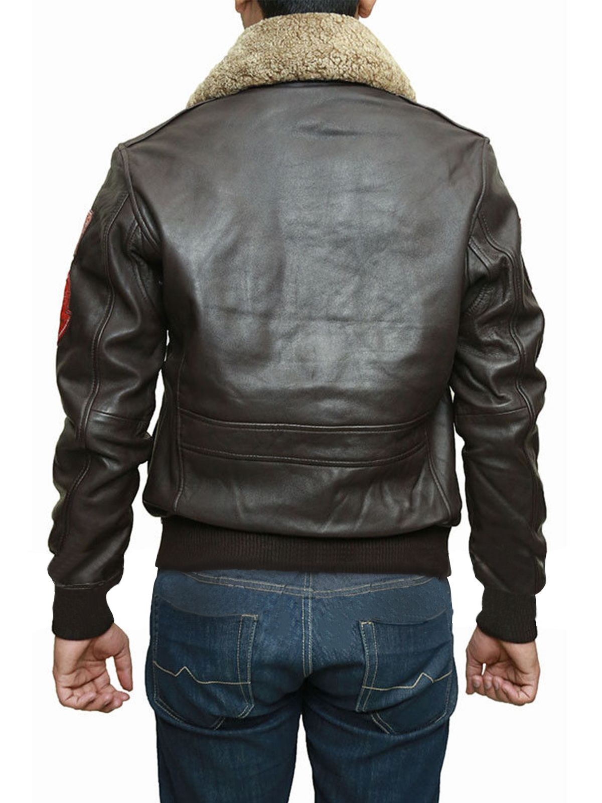 This trending Men B3 bomber brown leather jacket is famous