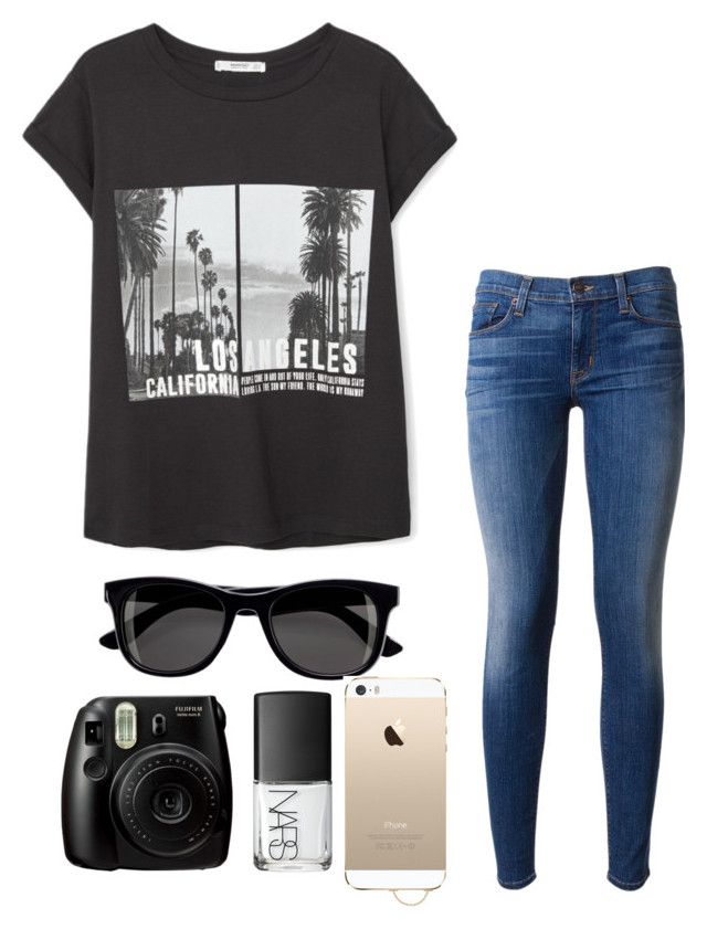 """""""Taking some pics"""" by genesisvargas101 ❤ liked on Polyvore featuring MANGO, Hudson, H&M, Agent 18, NARS Cosmetics, women's clothing, women's fashion, women, female and woman"""