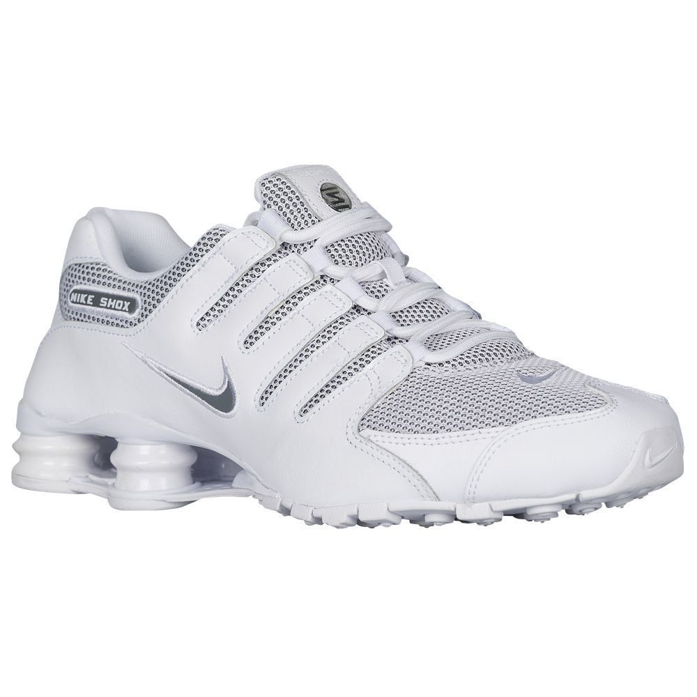 d40c063d803e ... purchase nike shox nz se mens running shoes 833579 100 white grey size  8.5 e9d02 34cb0