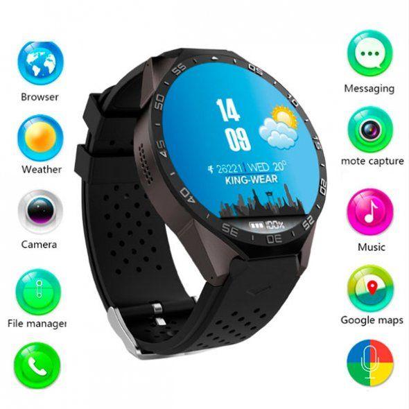 Розумний годинник Smart KW88 WI-FI Turbo Black за самою низькою ціною.  Купити в 498f5261a31cd