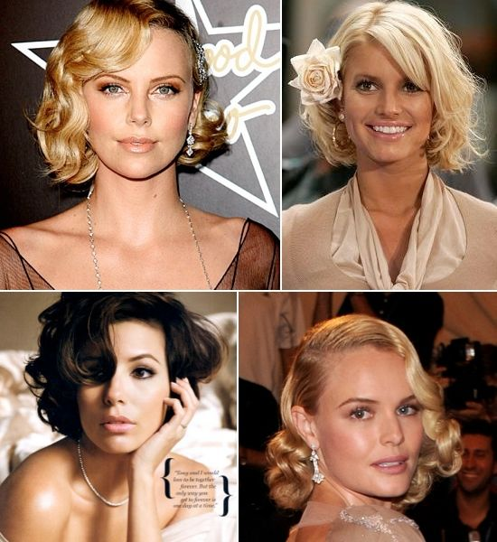 Celebrity Hairstyles For Weddings: I Guess I Should Start Practicing Again... Celebrity Short
