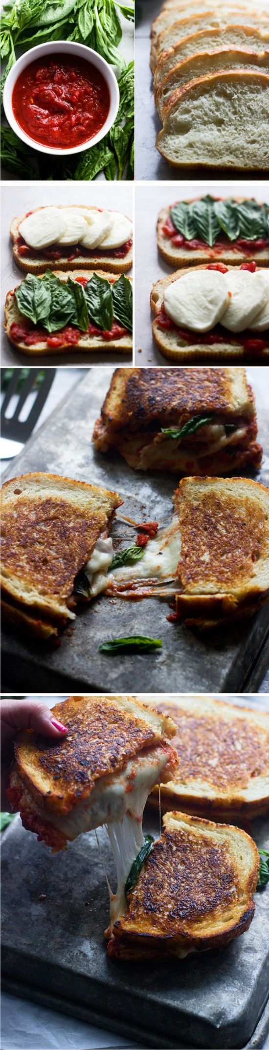 PIZZA MARGHERITA GRILLED CHEESE - cheese, grilled, healthy, pizza, recipes, vegetarian