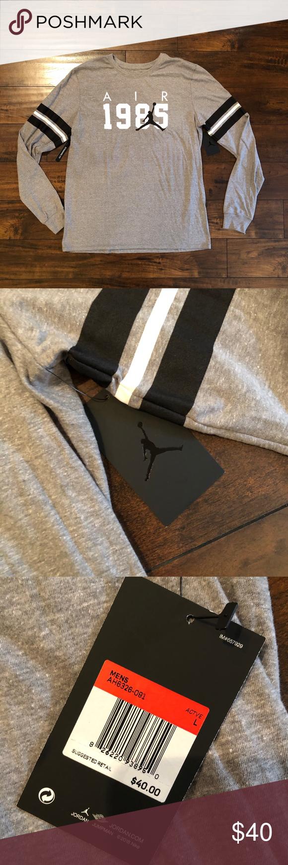 21314b74aaa5 🆕 ⭐ NWT Nike Air Jordan 1985 JSW 6 long-sleeve L Description ...