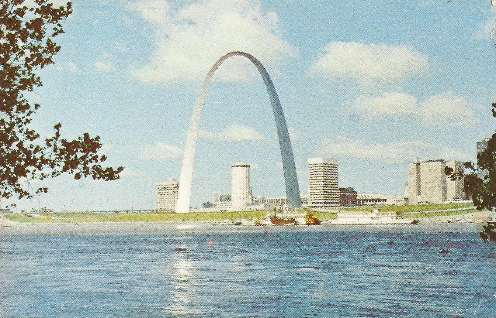 Gateway Arch St Louis Missouri Dated   Postcards Vintage