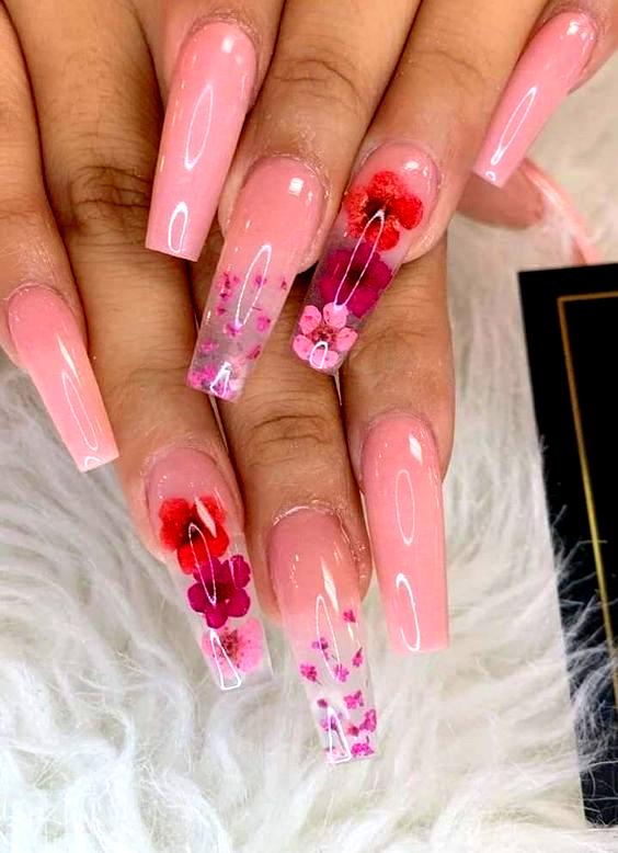 Long Nail Designs Water Nail Inspo Coffin Coffin Designs Inspo Long Nail Nailinspocoffin In 2020 Long Acrylic Nails Cute Acrylic Nails Pink Acrylic Nails