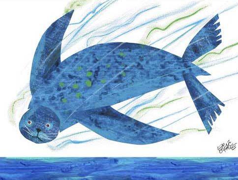 Eric Carle S Sea Lion Eric Carle Canvas Art Art Wall Kids