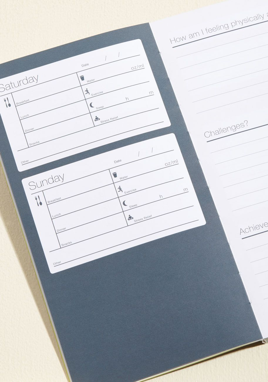 paper source two servings per day banana mug book log journal and