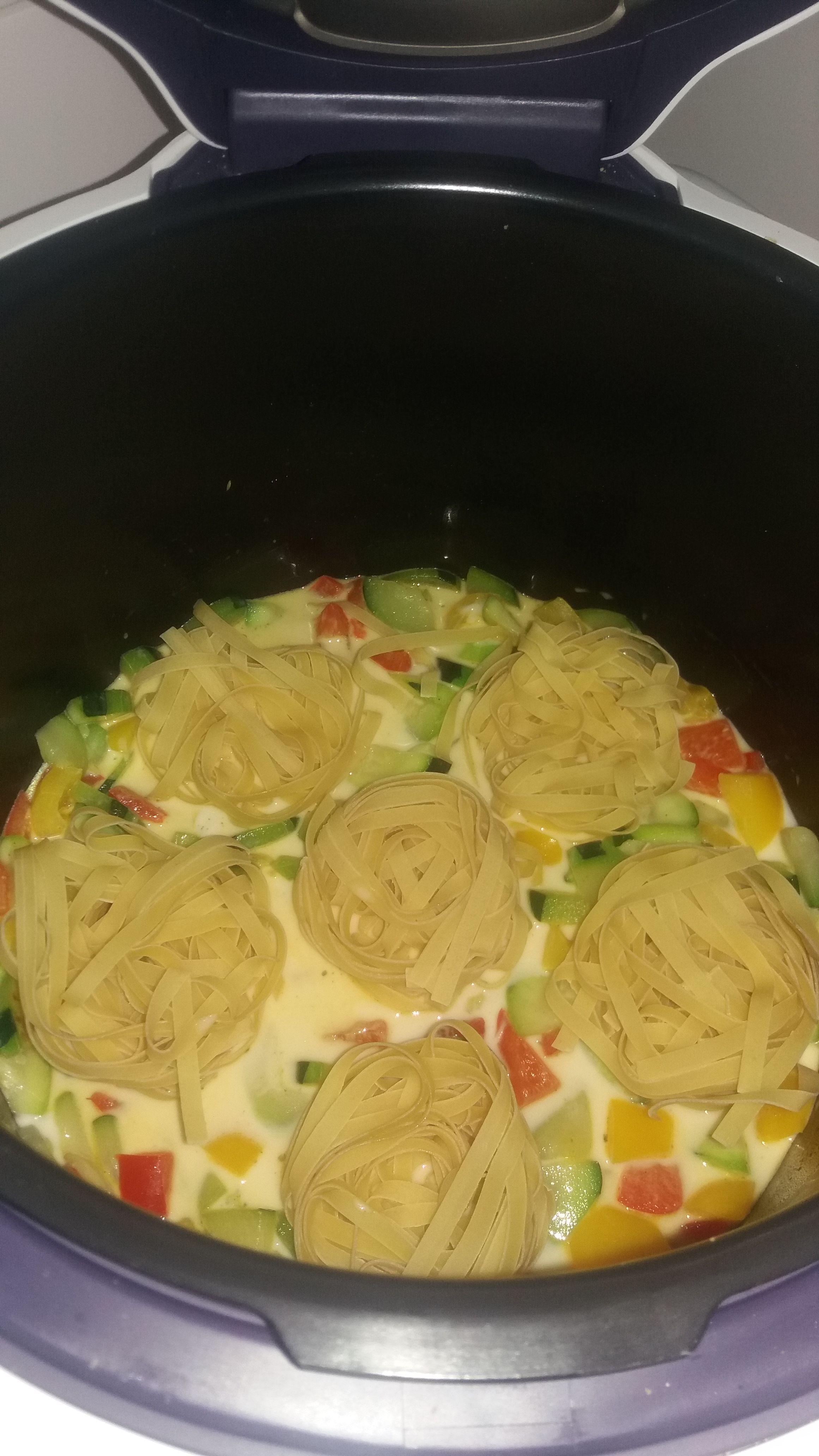 Idee Repas Avec Pates.Une Très Bonne Recette De Pâte Cuisinée Avec Des Légumes