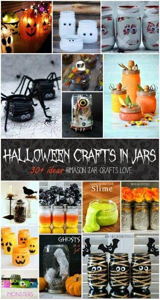 Halloween mason jars Pinterest Halloween ideas, Halloween diy - easy homemade halloween decorations for kids