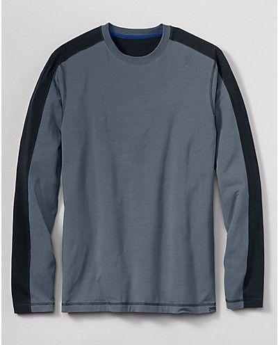 Travex® Lookout Long-Sleeve T-Shirt - Stripe | Eddie Bauer - large - color: graphite