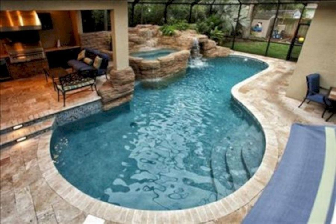 The Best Small Swimming Pool Ideas For Your Backyard 16 Backyard Pool Pool Patio Small Backyard Pools