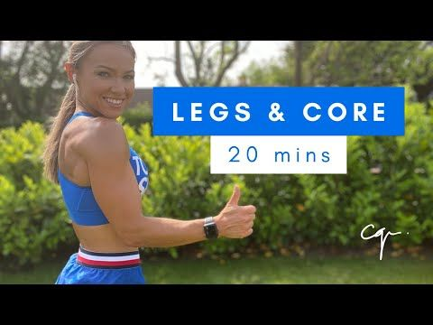 20 minute legs and core workout at home with no equipment