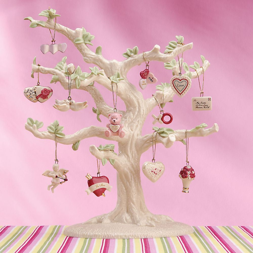 Valentine tree ornaments - Details About Lenox Valentine Be Mine Miniature Tree Ornaments Set Of 12 Heart Dove Cupid New