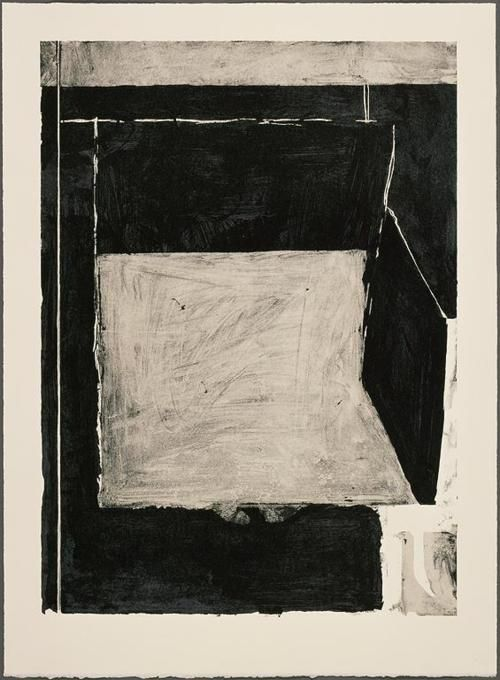 "Richard Diebenkorn Black & Grey, 1985 (RIDI84-1106) 3 color lithograph 35 1/8 x 26"" Edition of 42"