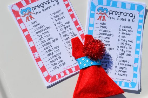 Thing One Thing Two Dr Seuss Baby Shower Games by PartyFrosting, $60.00