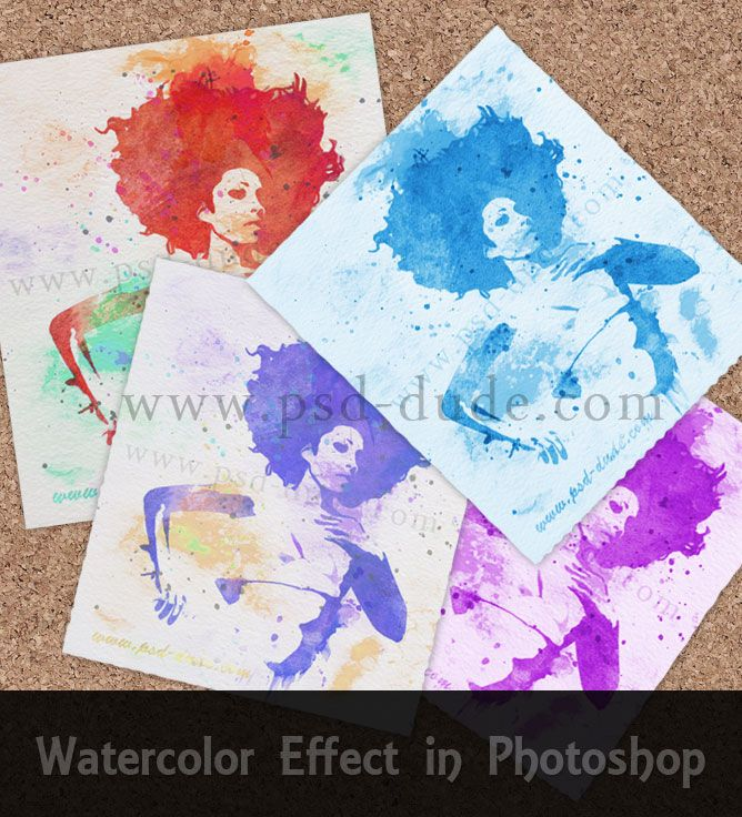 Create A Watercolor Effect In Photoshop Photoshop Illustrator