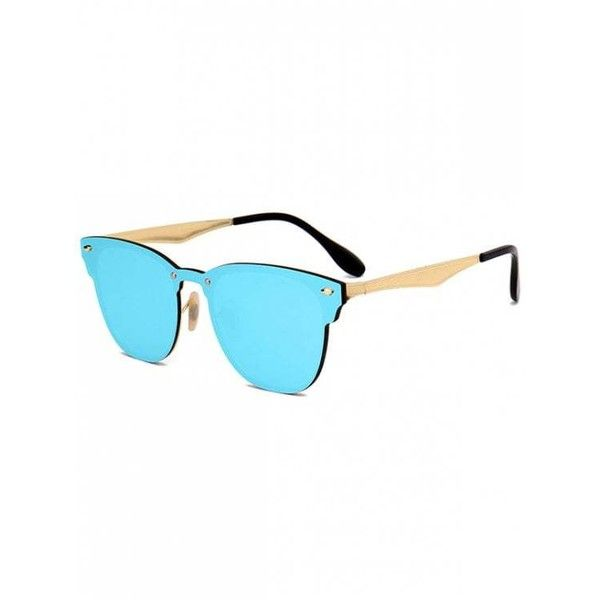 7ee93d510c Metallic Mirror Wayfarer Sunglasses Ice Blue ( 11) ❤ liked on Polyvore  featuring accessories