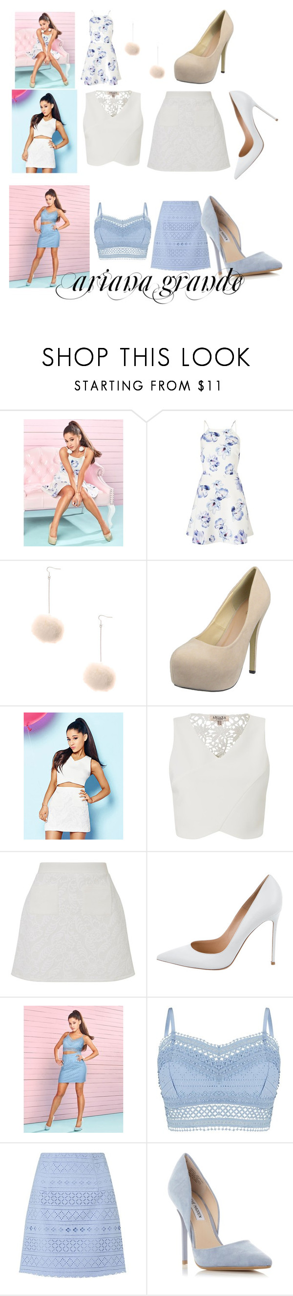 """""""Ariana outfits"""" by colonkairee on Polyvore featuring Lipsy, Gianvito Rossi and Steve Madden"""
