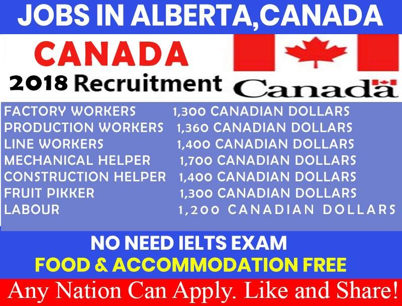 Jobs in alberta canada 2018 high salary awaits any