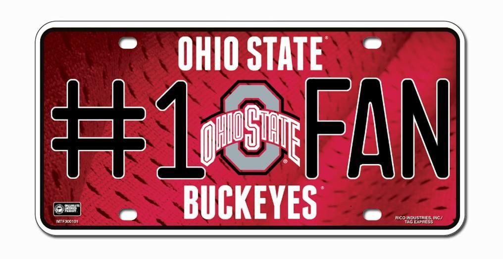 Ohio State Buckeyes License Plate 1 Fan Buckeyes, Ohio