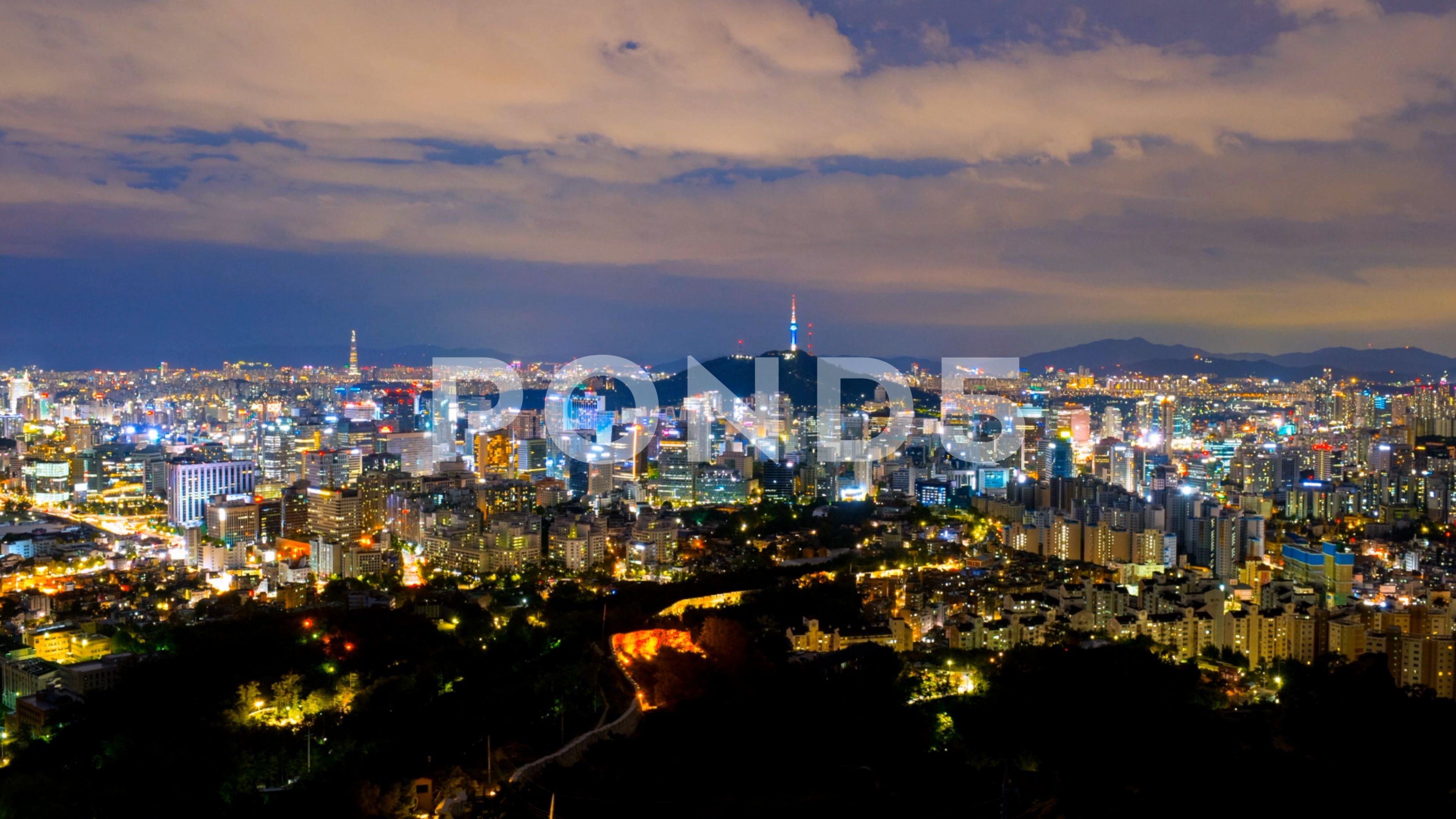 Time lapse of Seoul City Skyline,South Korea  Stock Footage,#Seoul
