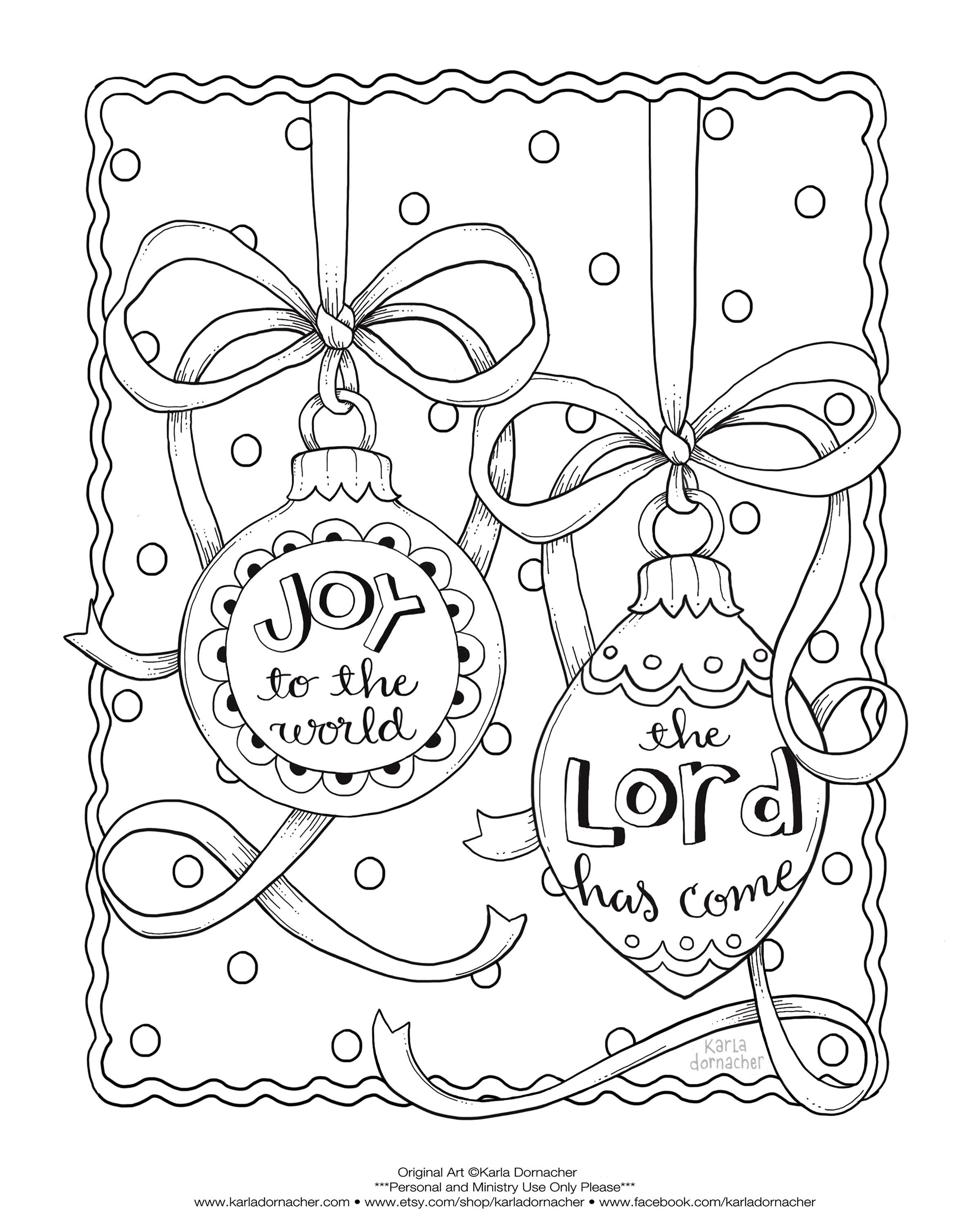 Joy-to-the-World-Dec-Freebie.jpg (2400×3000) | Sunday school coloring pages