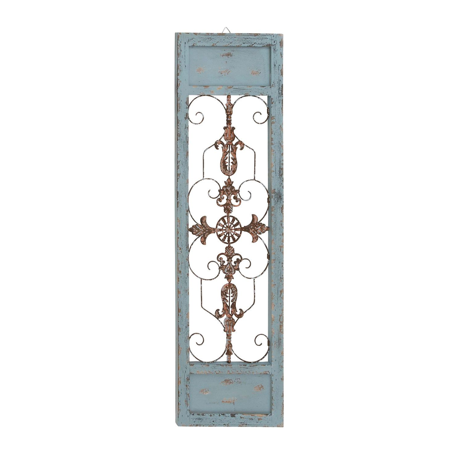 Woodland Imports Attractive Wood Panel Wall D�cor: Woodland Imports Ornamental Scroll Wall Décor & Reviews