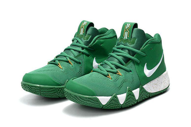 purchase cheap 53b6c 74de9 Fashion 2018 Nike Kyrie 4 Celtics PE White Green Mens Basketball Shoes 2018  On Sale