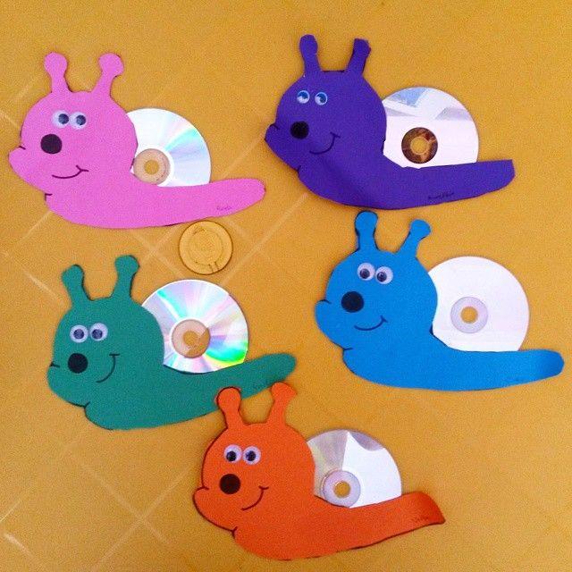 cd snail craft idea for kids 1 basteln mit cd crafts for kids cd crafts und snail craft. Black Bedroom Furniture Sets. Home Design Ideas