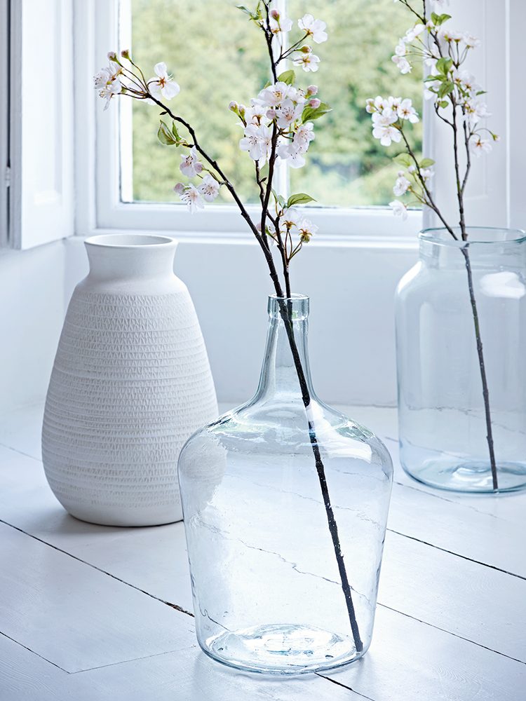 Beautifully Made From Weighty Recycled Glass Our Large Demi John Vase Has A Classic Rectangular