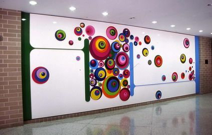 Abstract Wall Murals Stickers for Kindergarten School Wall ...