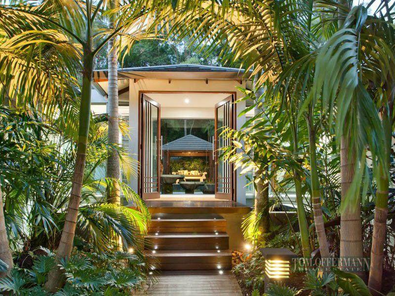 Tropical entrance bali style home garden pinterest for Bali garden designs