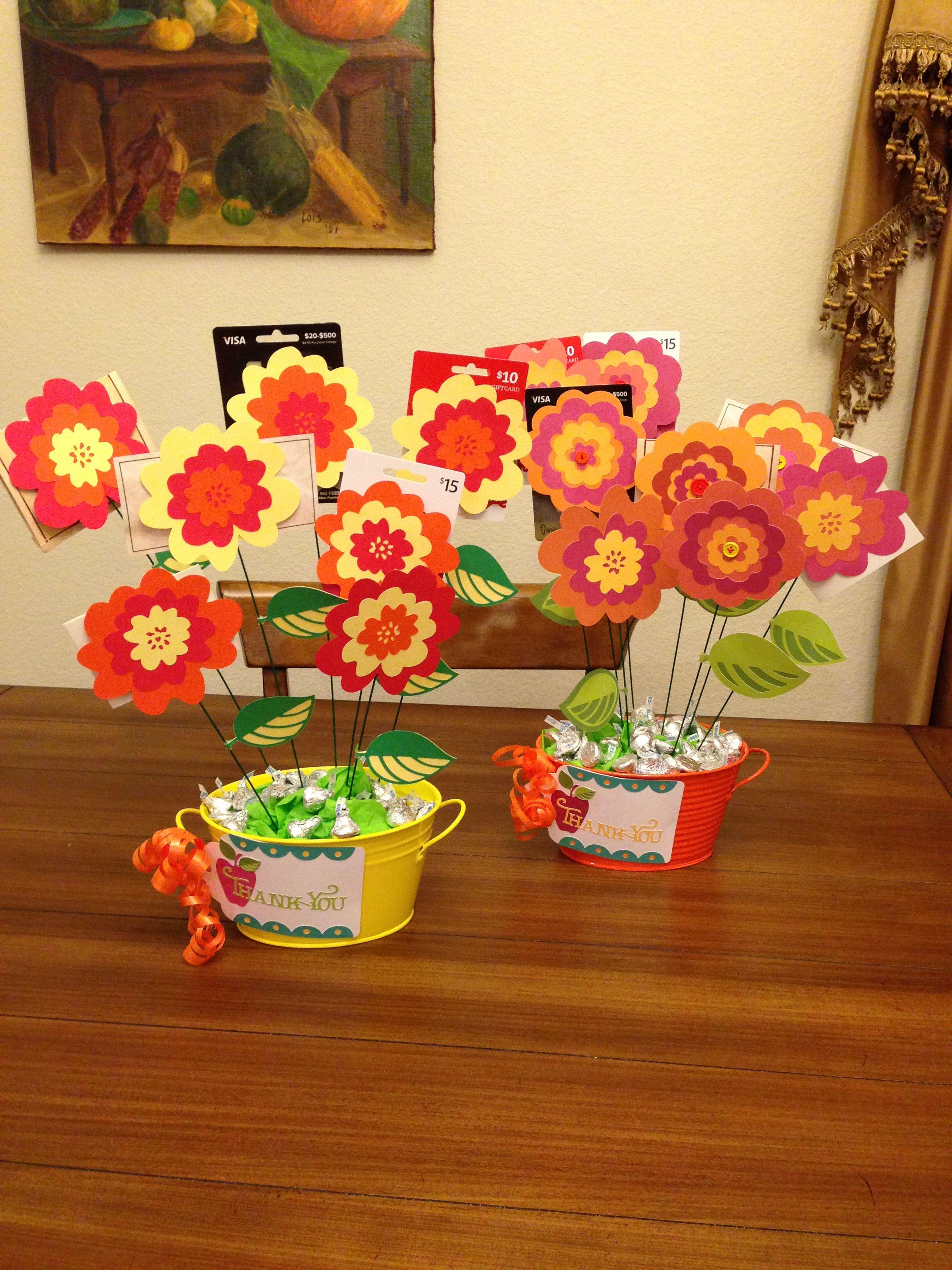 Teacher Appreciate Gift Card Bouquet My First Project Using My