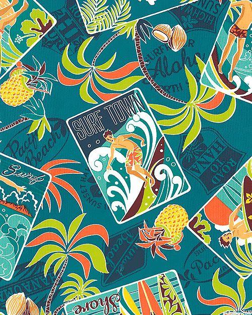 Sun & Surf Postcards - Quilt Fabrics from www.eQuilter.com ... : best quilt fabric online stores - Adamdwight.com