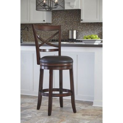 Porter Tall Swivel Barstool Rustic Brown Signature Design By