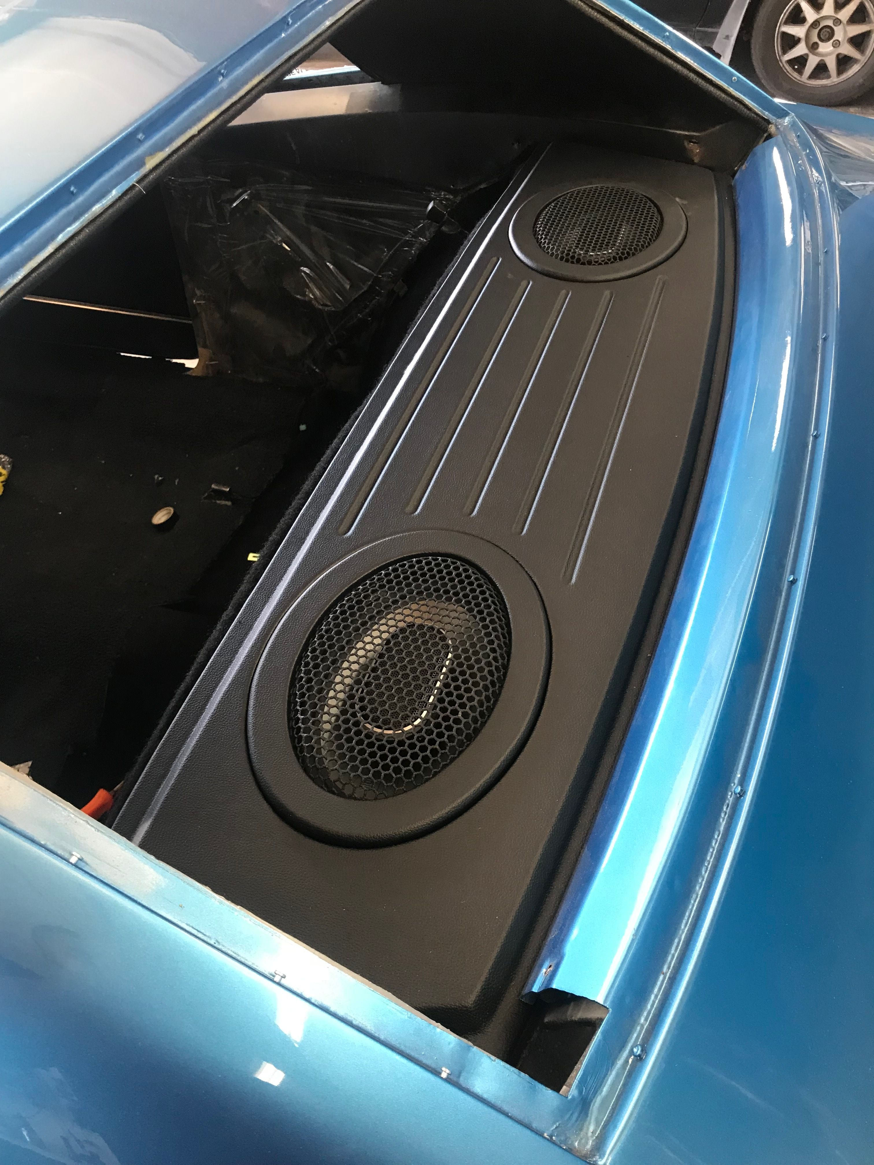 68 camaro rear package tray custom car audio custom