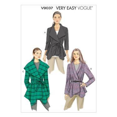 Vogue V9037 Misses\' Jacket & Belt   Spotlight Australia   mccalls ...
