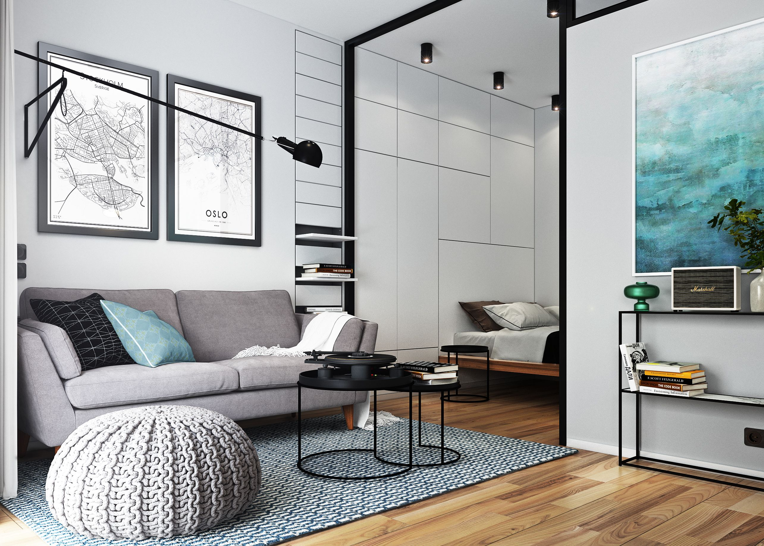 Interiors Apartment For Men Stockholm Sweden 29 Sqm On Behance