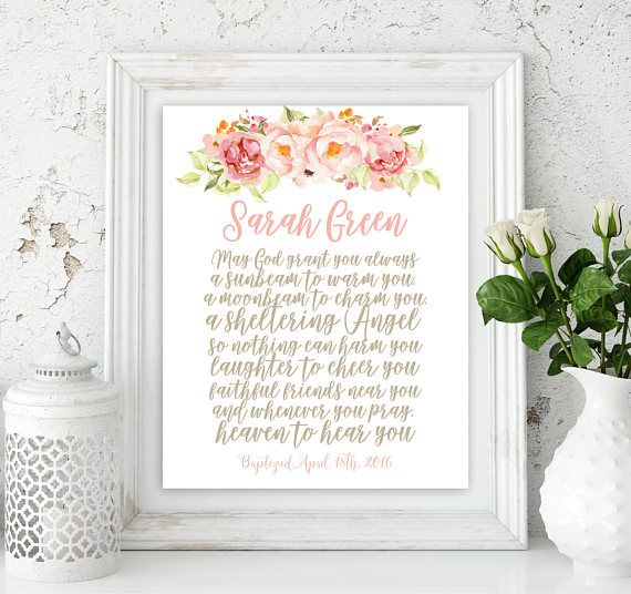Personalized irish blessing first communion girl baptism girl gift personalized irish blessing first communion girl baptism girl gift blessing god godmother gift baby name sign print scripture idb200 irish blessing negle Choice Image