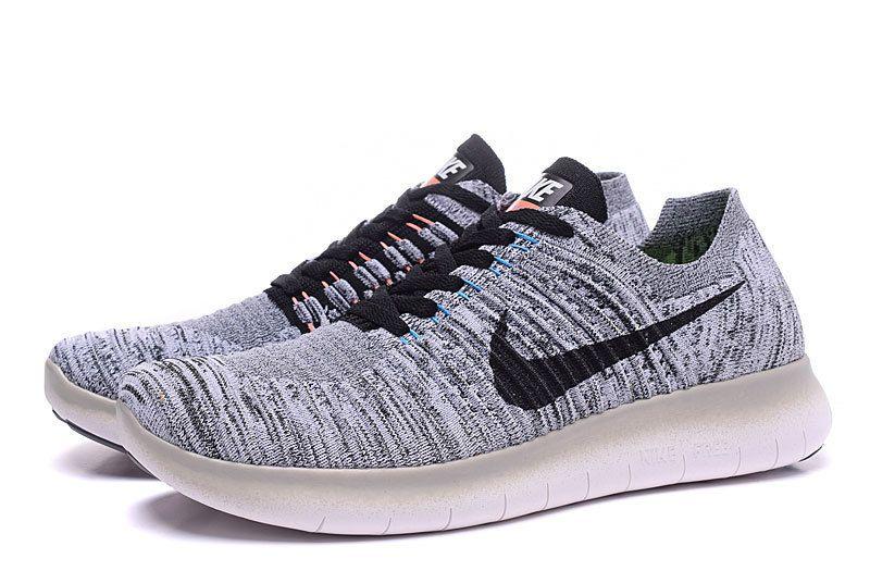 Nike Free rn Flyknit Grey Black Womens | Fashion | Pinterest | Gray, Nike  shoe and Black