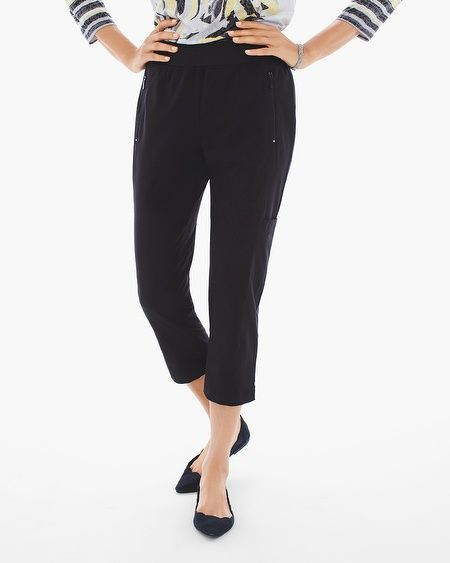 "Move from one look to the next in these versatile active pants with our all-star Neema fabric and an agile silhouette.   Refined, lightweight, two-way-stretch Neema fabric.  Pull-on styling with elastic waist.  Zippered pockets.  Regular inseam: 24"".  Petite inseam: 22"".  Polyester, spandex.  Machine wash. Imported."