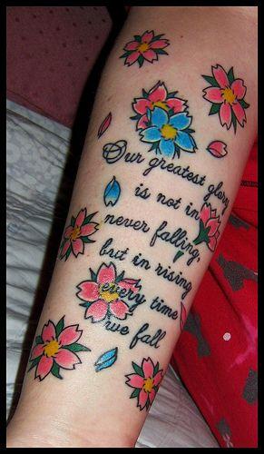 Confucius Quote w/Cherry Blossoms