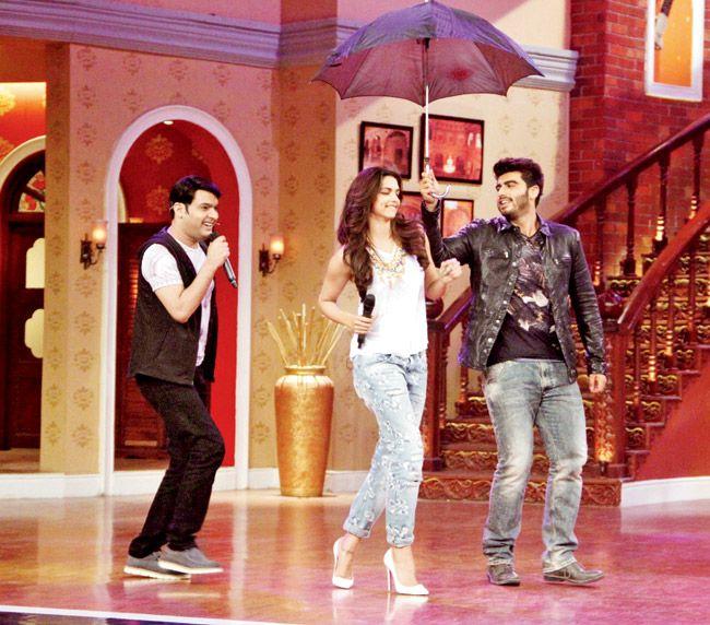 Deepika And Arjun On Comedy Nights With Kapil Comedy Nights With Kapil Comedy Nights Indian Film Actress
