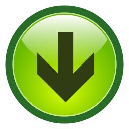 Button Arrow Green Down Sticker Sign Arrow Signs